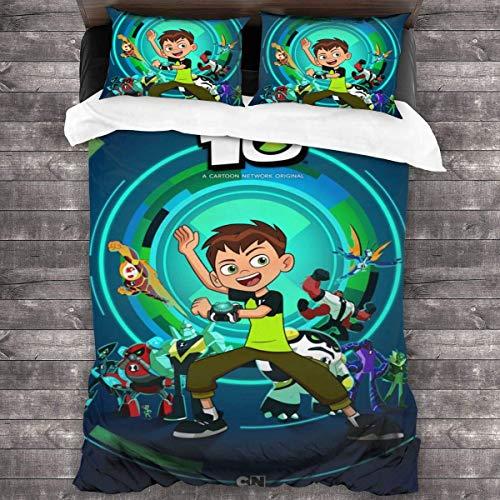 KDRW B-E-N 10-Bedding-Sets, Comforter Set Full, 3 Piece Bed Sets, Ultra Soft Microfiber Unisex Bedding Set Modern Pattern Printed