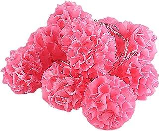 KESYOO LED Flower String Light USB Rosy Blossom Wedding Party Fairy Light Decorative Ball-Flower String Lamp Atmosphere Li...