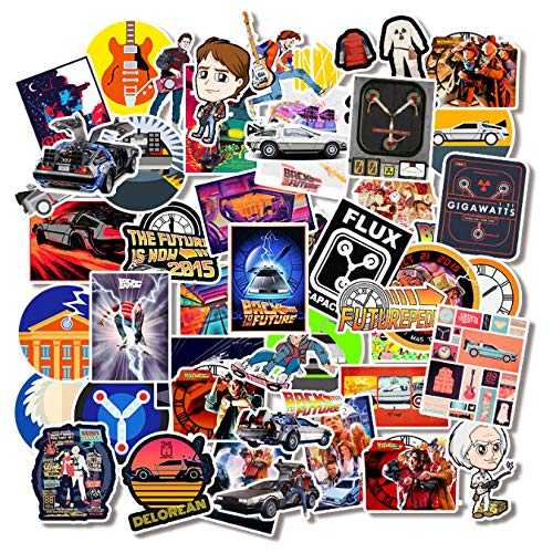50pcs/Pack Back to The Future Classic Movie Stickers for Motorcycles Furniture Children's Toys Luggage Skateboards Computers Etc