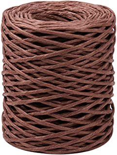 PH PandaHall 2mm Brown Floral Bind Wire Wrap Twine Handmade Iron Wire Paper Rattan for Flower Bouquets (Length: 50m)