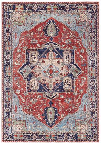 Elle Decor design tapijt oosterse hamadan woonkamertapijt (100% polyester, geschikt voor vloerverwarming, robuust, eenvoudige reiniging), verkrijgbaar in verschillende maten Hamadan. 160x230 cm