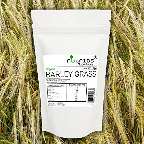 Nutrics® Biologisch 100% Pure Gerst Gras Poeder 1000g/1KG Superfood Groenen EU Grown - Nutrics Superfoods