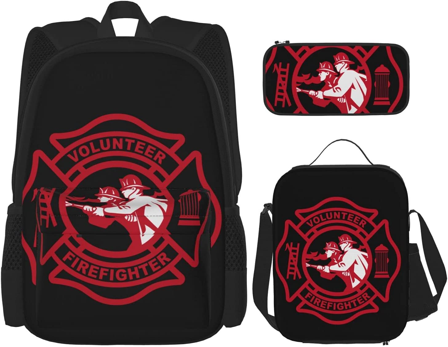 Volun-Teer Firefi-Ghter Popular product With Mal-Tese-Cross Set Backpack Piece National products 3