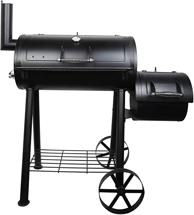 Barbecue grill, barbecue a gas grill fumatore carrello da esterno per barbecue uten B08FJ4DXYN