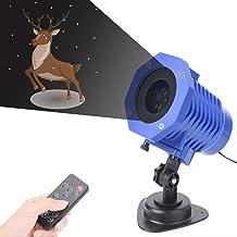 AOKARLIA Luz de Nevadas Navidad proyector Luces Navidad Impermeable con Mando a Distancia Temporizador y 8 escenas Reproductor de animación, Nieve Que Cae la luz para Halloween Boda Navidad