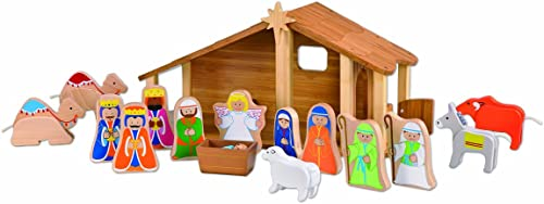 EverEarth Bamboo Nativity with Figures and Animals EE33512