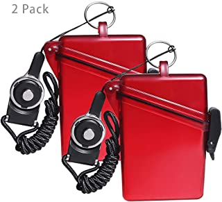 CEYDEY 2 Pack Sport Waterproof ID Card Badge Holder Case with Lanyard Cover Multiple Credit Cards, Registration, ins Card Heavy Duty Durable Locker Dry Box