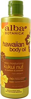 Alba Botanica Hawaiian Body Oil Kukui Nut 8.5 Ounces 2 Pack