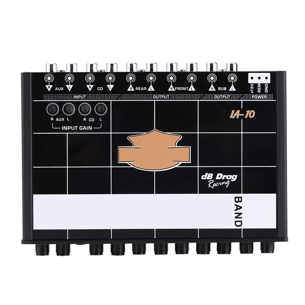 Qiilu Car Equalizer Audio Modified Graphic Equalizer EQ 7s Car Audio Stereo Tuner W// 3.5mm Aux-in /& Knob