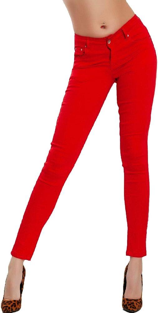 Toocool, jeans donna, pantaloni skinny slim elasticizzati, push up,97% cotone, 3% elastan 78765-82-2780-1