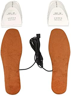 Rechargeable Heated Insoles,USB Heating Insoles Boots Thermal Shoe Soles Foot Warmer Shoe Pad Heater Unisex (Brown (Women))