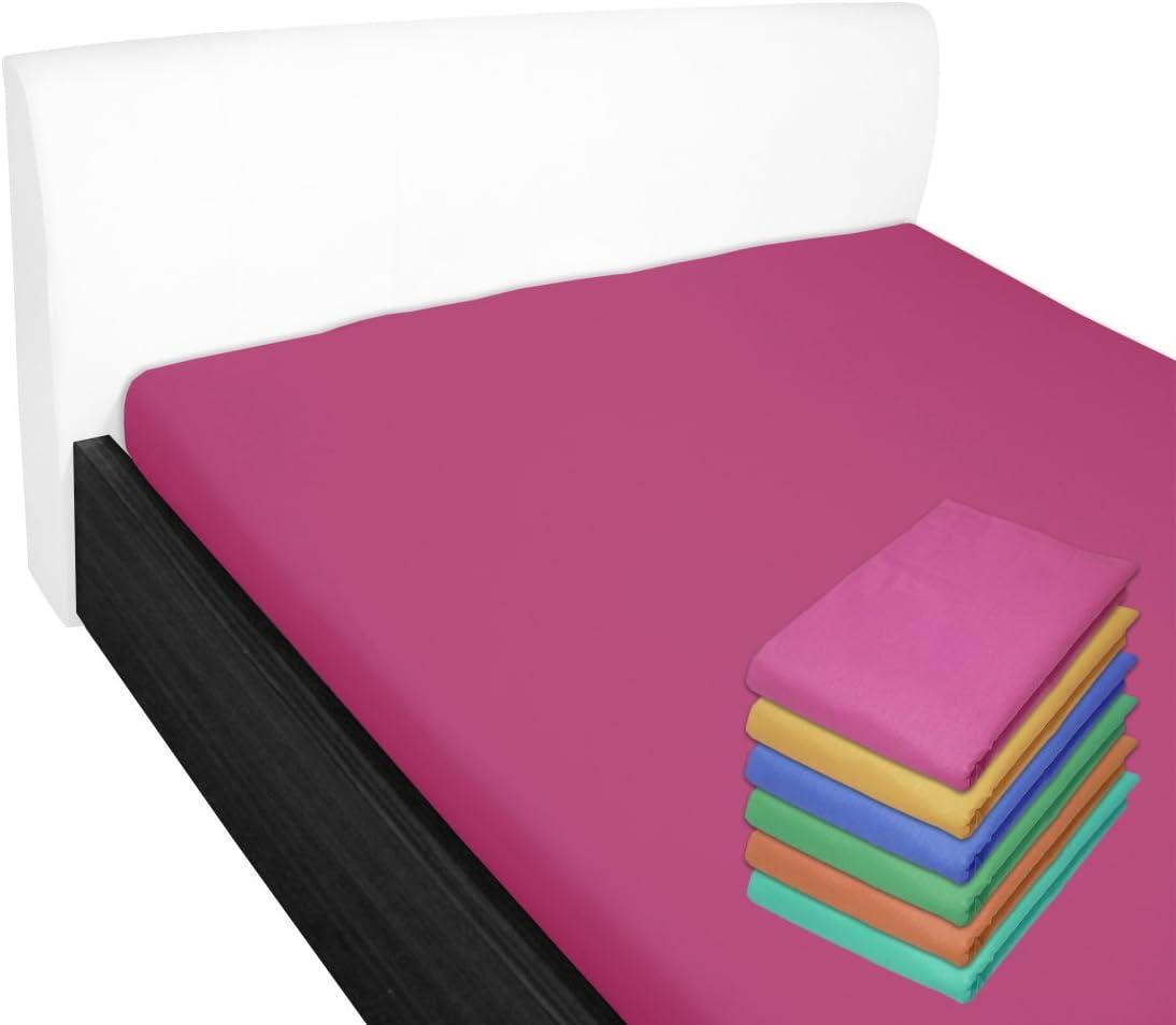 Anthrazit Nurtextil24 Bettlaken 210x240cm 28 Farben 100/% Baumwolle ohne Gummizug 140x200cm /& 160x200cm