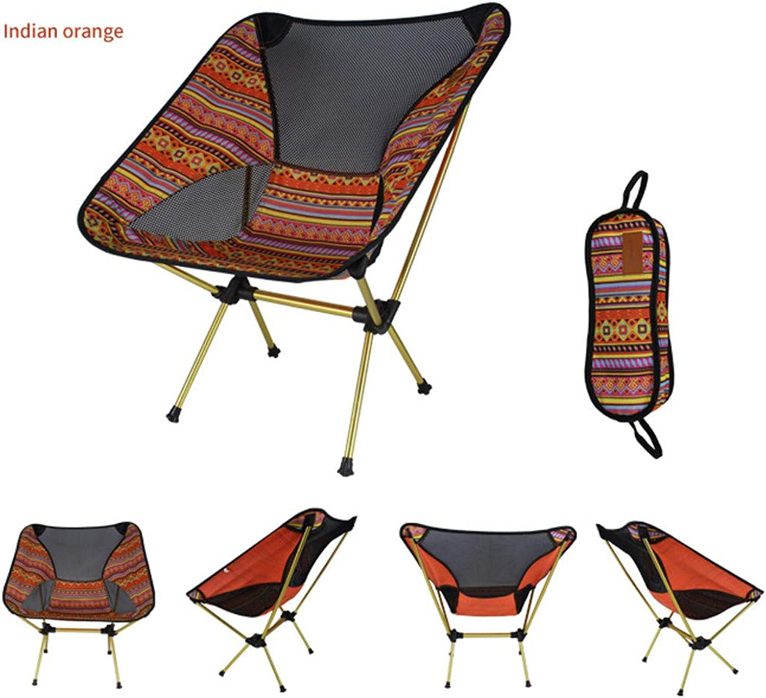 Portable Beach Chair Outdoor Folding Chair Portable Moon Chair Compact Ultralight Folding Camping Chairs Lightweight