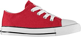 SoulCal Low Canvas Shoes Infants Boys Red Trainers Sneakers Plimsoll Footwear