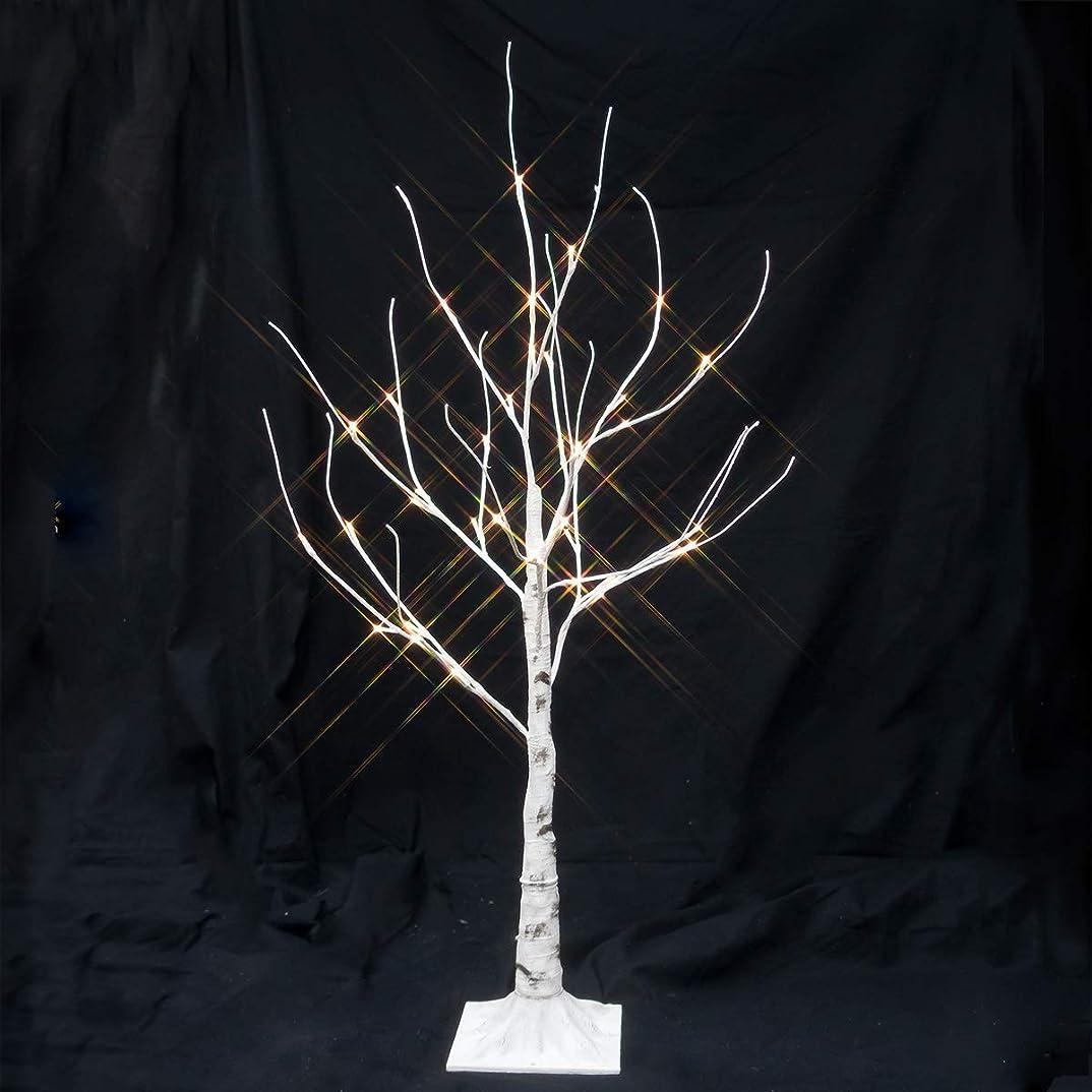 立ち寄る不要ペースクリスマスツリー LED ホワイト ブランチツリー 90cm 白樺 北欧 おしゃれ