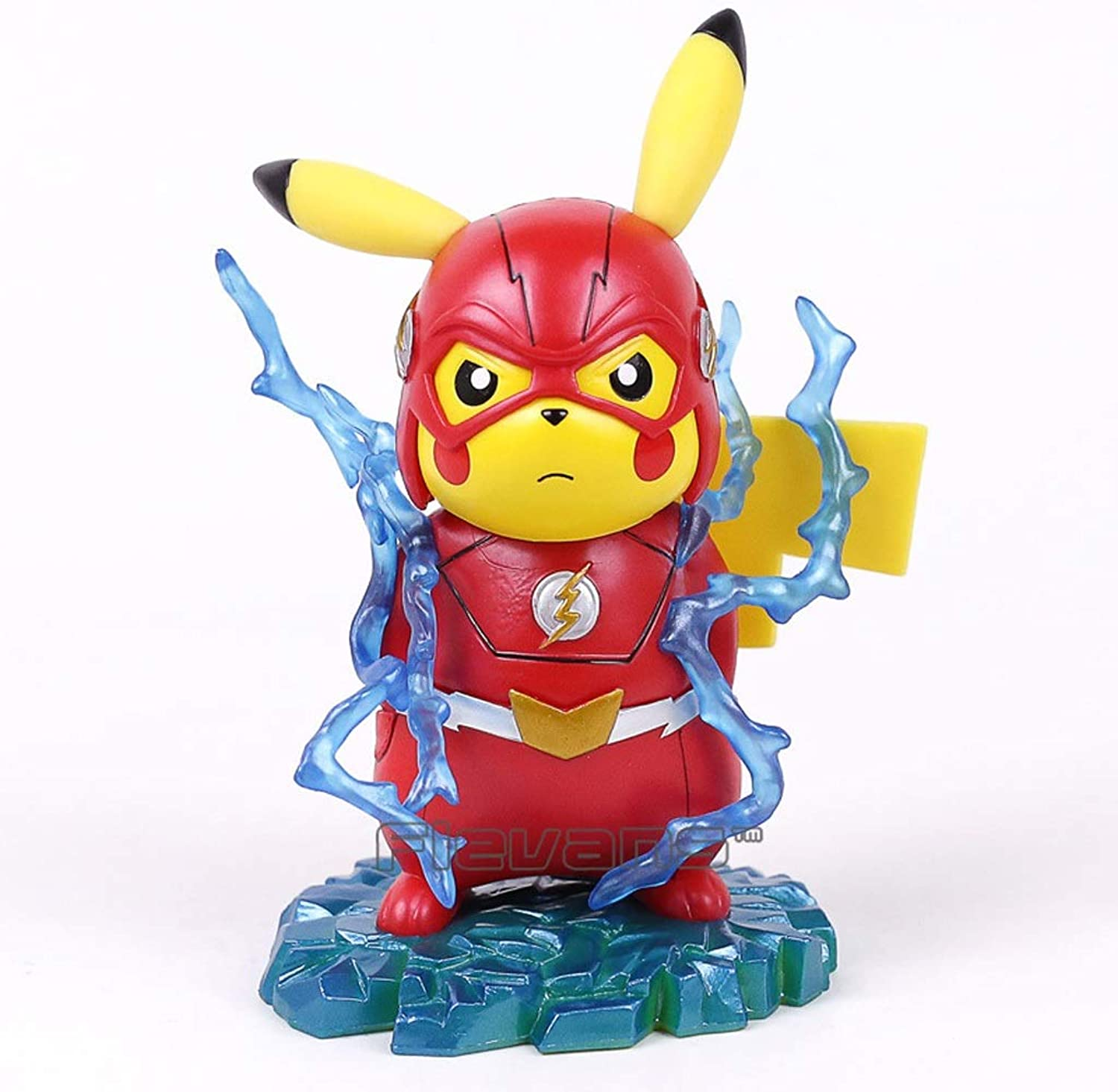 Zxwzzz Toy Statue Pokemon Toy Model Cartoon Character Gift Collection Flash Pikachu 15CM Statue