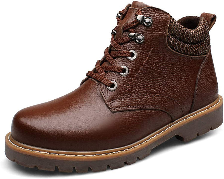 Men's Snow Boots Martin Fur Suede Lined Winter Waterproof Footwear Lightweight Non-Slip Warm Outdoor Booties Size:38-45