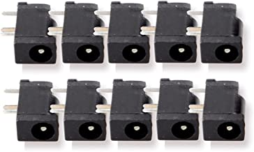 FolioGadgets 10-Pack 3-Pin 3.5mm x 1.35mm Female DC Power Jack Socket Connector for PCB Mount