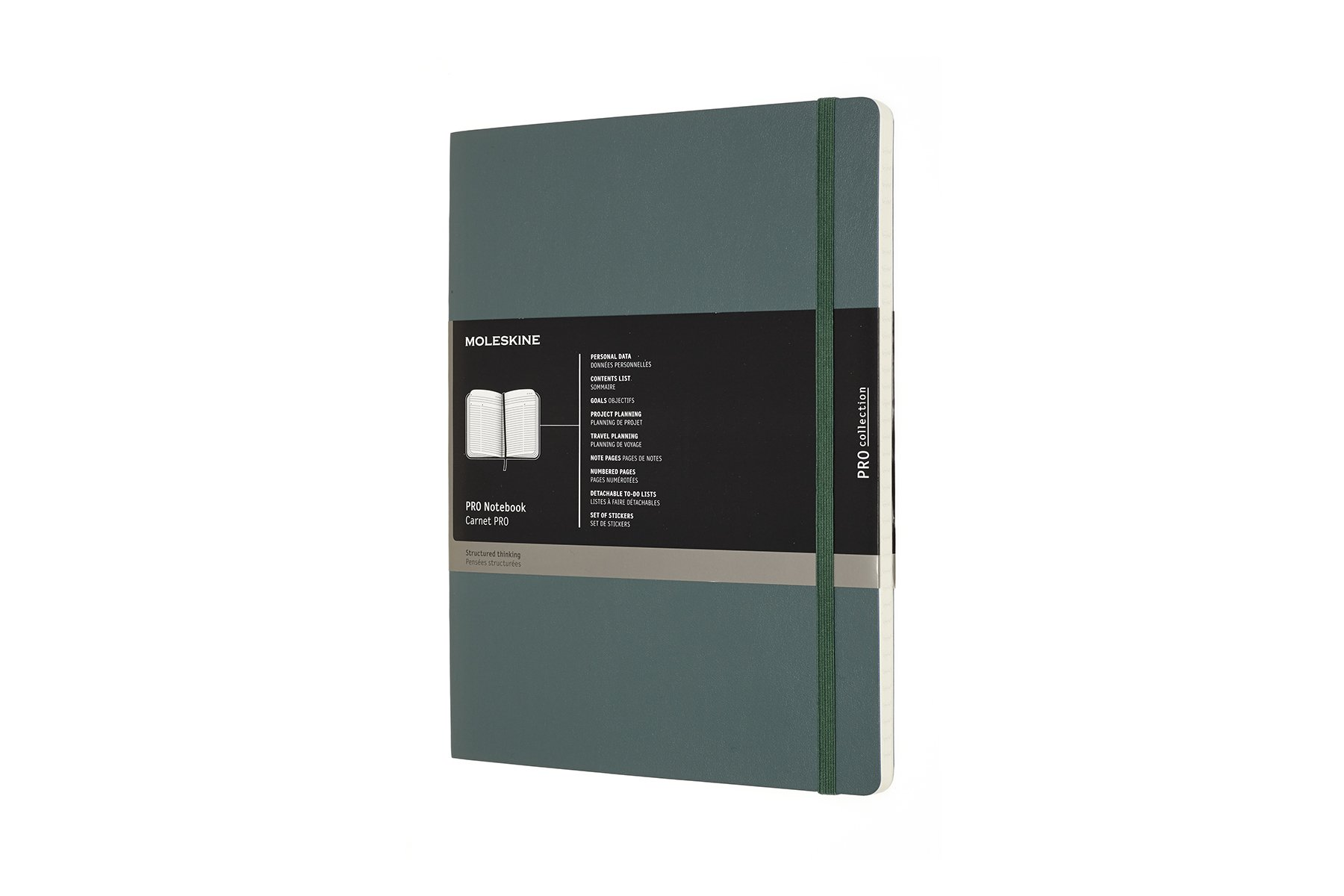 Moleskine Pro Notebook Professional Notebook Ideal For Office Work Soft Cover And Elastic Closure Size Extra Large 19 X 25 Colour Forest Green 192 Pages Buy Online