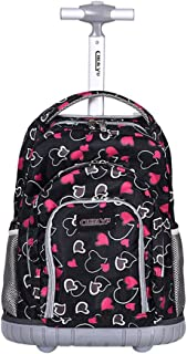 Kids Rolling Backpacks School Bag - Boys Girls Trolley Schoolbag Waterproof Primary Children Bag Removable Outdoor Travelling Nylon Student Luggage
