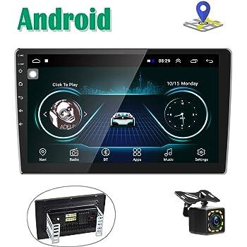 Android Autoradio GPS Navi 2 Din Lettore Stereo CAMECHO 10'' Touch Screen Bluetooth WIFI FM Ricevitore Mobile Mirror Link telefono con Dual USB + Telecamera posteriore