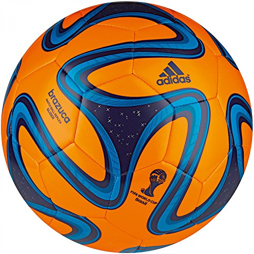 adidas Fußball Brazuca Glider, Solar Zest/Night Blue/Solar Blue, 5, G73628