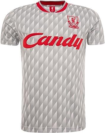 FC Liverpool Candy 89 – 91 Away Retro Maglia, Grigio, XL : Amazon ...