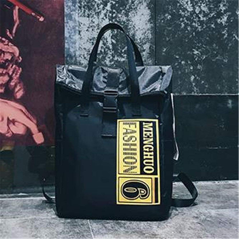 Ladies Handbag Unisex Backpack Purse Oxford Cloth Fashion Casual Shoulder Bags Handle Bag (color   Black)