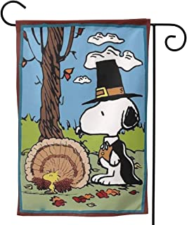 Criss Garden Flag,Snoopy Fall Comes Double Sided Outdoor Flag House Banner for Yard Home Decor 12.5