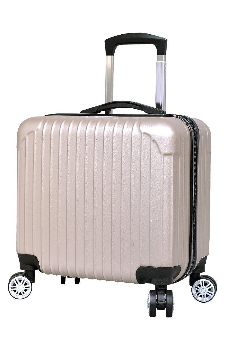 回転するアパート傷つけるスーツケース 機内持ち込み [DJ002] 超軽量 16インチ 四輪 ABS キャリーケース