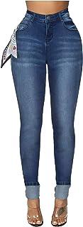 LANSKRLSP Vaqueros Mujer con Bolsillos Legging Jeans de Cintura Alta Pantalones Vaqueros 2020 Invierno
