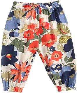 jieGorge Pantalones para niñas, niños, niños, bebés, niños, niñas, Estampado Floral, Pantalones Largos Informales, Ropa pa...