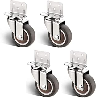 Htz 4pcs Furniture Casters L Type Splint Swivel Chair Office Chair Replace Universal Wheel,Cabinet Table Baby Cot Flower S...