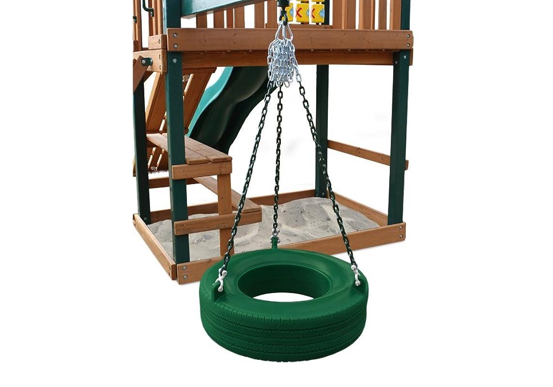 Gorilla Playset Accessories Turbo Tire Swing in Green