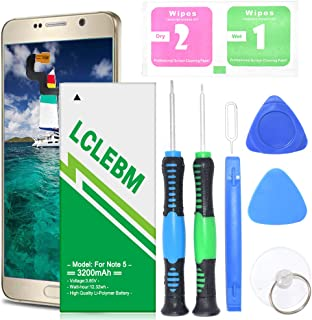 Note 5 Battery | Upgraded LCLEBM 3200mAh Durable Battery Replacement for Galaxy Samsung Note 5 N920P N920V EB-BN920ABE with Repair Kit Tools | Galaxy Note 5 Battery [365 Days Warranty]