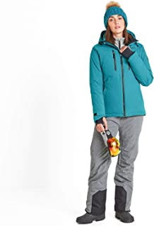 Stretch Snow Cuffs and Ski Goggle Wipe Waterproof and Breathable Skiing and Snowboarding Coat with Detachable Hood TOG 24 Kannik Womens Ski Jacket