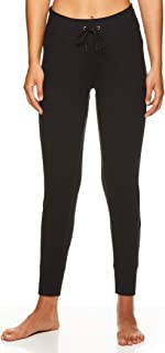 Women's Knit Crop Yoga Pants - High Rise Waist Athleisure 7/8 Length Leggings