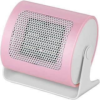 XYW-0007 Calefactor Eléctrica Calefactor Espacio Personal Calentador de cerámica Calefacción eléctrica 110 ° Gran Angular Calentador de Escritorio Caliente Oficina en casa Mini Rosa 500W