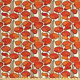 Ambesonne Blumenstoff von The Yard, Jugendstil-Stil,
