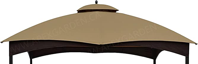 APEX GARDEN Replacement Canopy Top for Allen + roth 10-ft x 12-ft Gazebo # TPGAZ17-002 (Color: Brown)