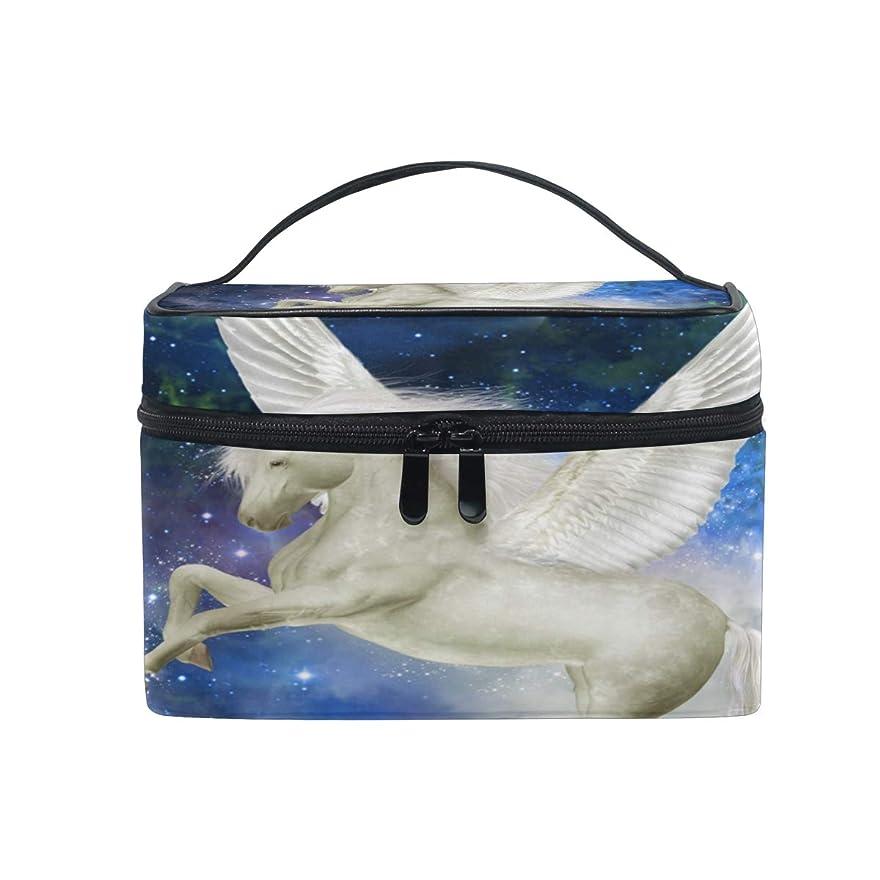 バラバラにするモルヒネ瞑想するUOOYA ペガサス 馬 銀河 おしゃれ メイクボックス 大容量 持ち運び メイクポーチ 人気 小物入れ 通学 通勤 旅行用 プレゼント用
