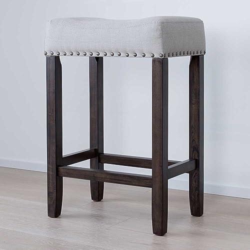 Upholstered Counter Stool Amazon Com