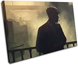 Tommy Shelby Gangster Peaky Blinders Wayne Maguire Premium Wall Art Canvas Print 18X24 inch Mur