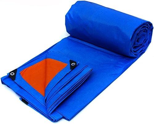 GLJ Bache en Plastique Bache De Pluie Tissu Poncho Camion Bache Bache Toile Parasol Pare-Soleil en Plein Air Isolation bache (Couleur   bleu Orange, Taille   8  6m)