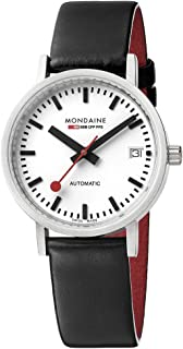 Mondaine Unisex A128.30008.16SBB Analog Display Swiss Automatic Black Watch