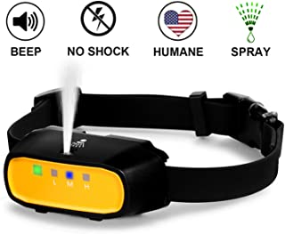 WWVVPET Spray Dog Training Collar,2 Modes Spray Dog Bark Collar (Not Included Citronella Spray),500 ft Range No Electric Shock Harmless,Rechargeable Adjustable Waterproof (NO Remote Control)