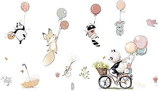 Stickers muraux amovibles pour enfants - Motif renard, panda, souris, ballon - Pour salon, chambre à coucher, chambre d'en...