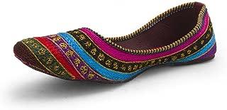 Great Art Women Girls Rajasthani Jaipuri Jutti Mojari Resham Zari Work Colorful Ballerina Sandals 305