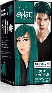 Splat Rebellious Colors Hair Coloring Complete Kit, Deep Emerald 1 ea (Pack of 2)