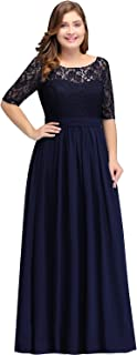Women Plus Size Chiffon Evening Dresses Long Prom Bridesmaid Gown